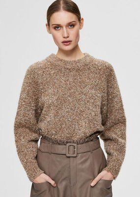 SELECTED FEMME SLFBELL LS KNIT O_NECK W