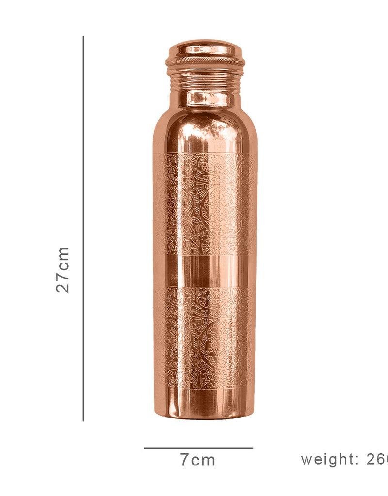 FORREST & LOVE ENGRAVED COPPER WATER BOTTLE 600 ML