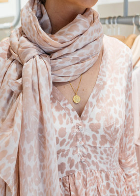 ALIX THE LABEL Ladies woven graphic animal scarf