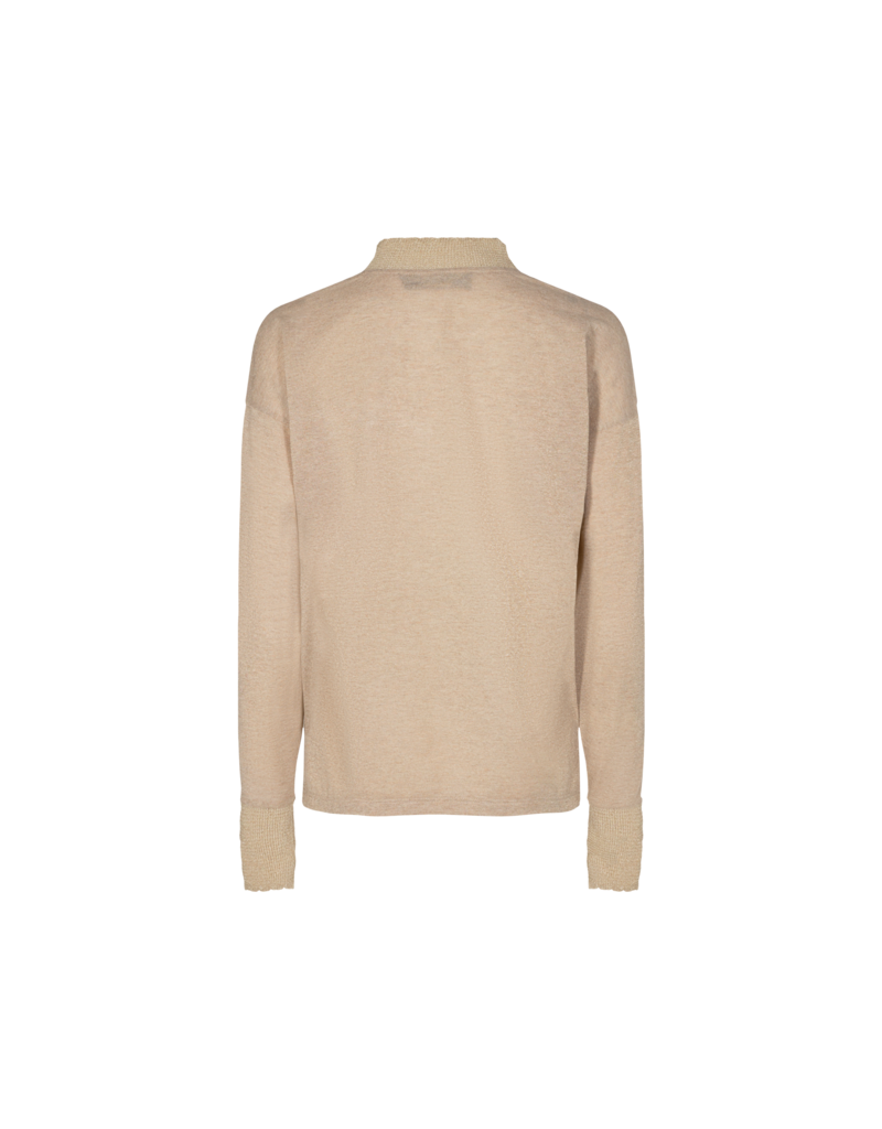 MOS MOSH CHER LS BLOUSE GOLD