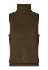 CO'COUTURE ROW BUTTON VEST ARMY