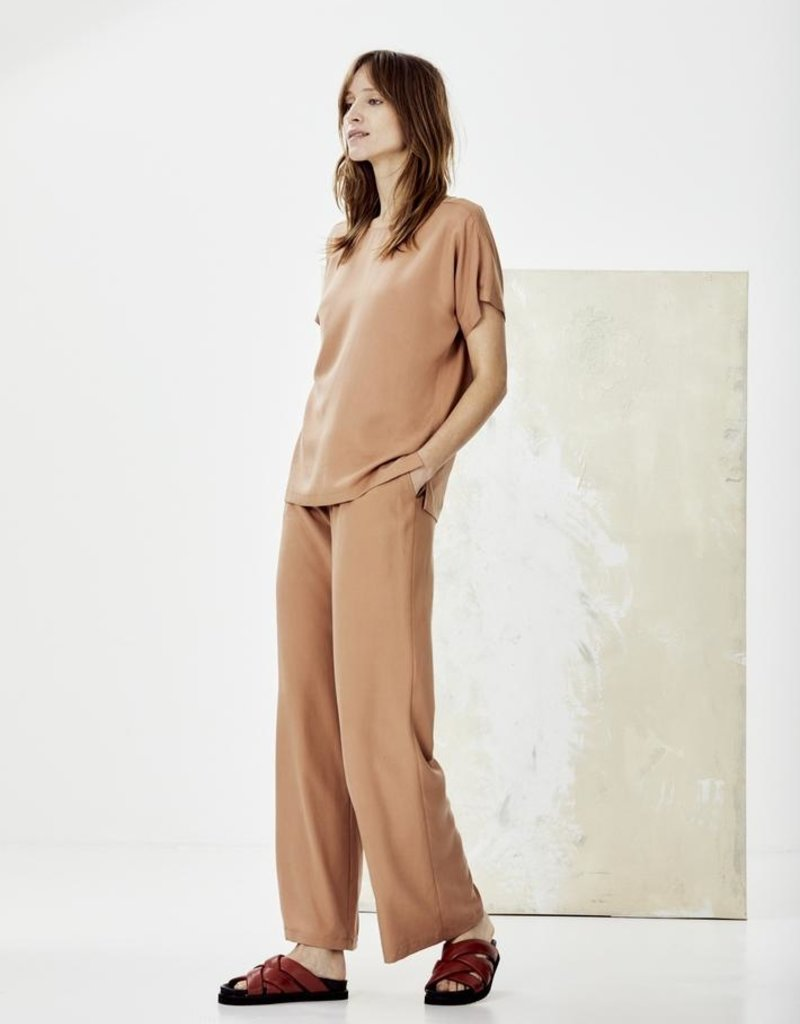 KNITTED MARLOES PANTS NUDE