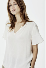 KNITTED STEPHANIE TOP IVORY
