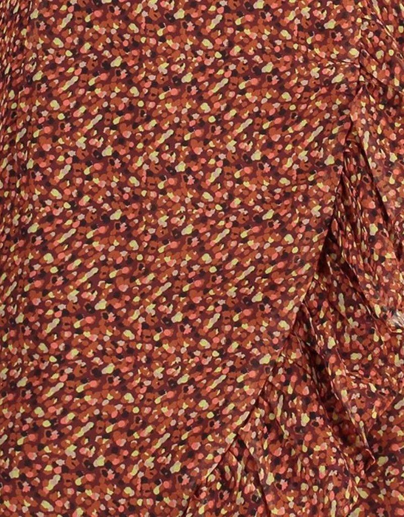 FREEBIRD ROSY LS MINI DRESS BROWN