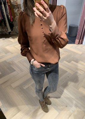 DANTE6 Nascha satin detail blouse