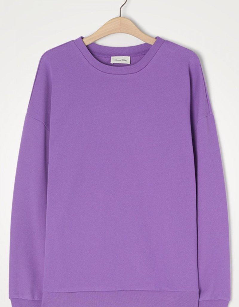 AMERICAN VINTAGE FERY03BE21 SWEATER PURPLE VINTAGE