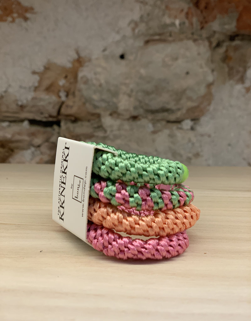 BON DEP ART. 6 4-PACK KKNEKKI PINK GREEN