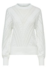 SELECTED FEMME SLFJULIA LS PATTERN KNIT O-NECK B