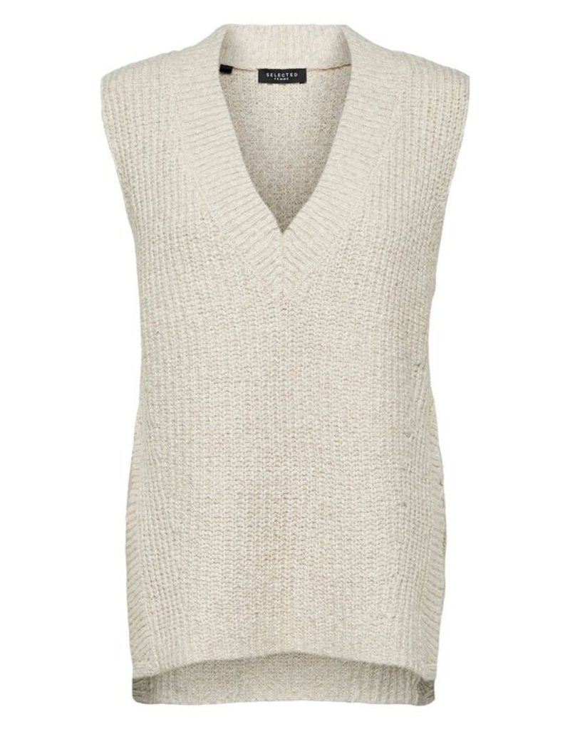 SELECTED FEMME SLFHELENA KNIT VEST V-NECK B