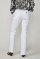 SUMMUM WOMAN 4S2100-5084 FLARED JEANS WHITE DENIM