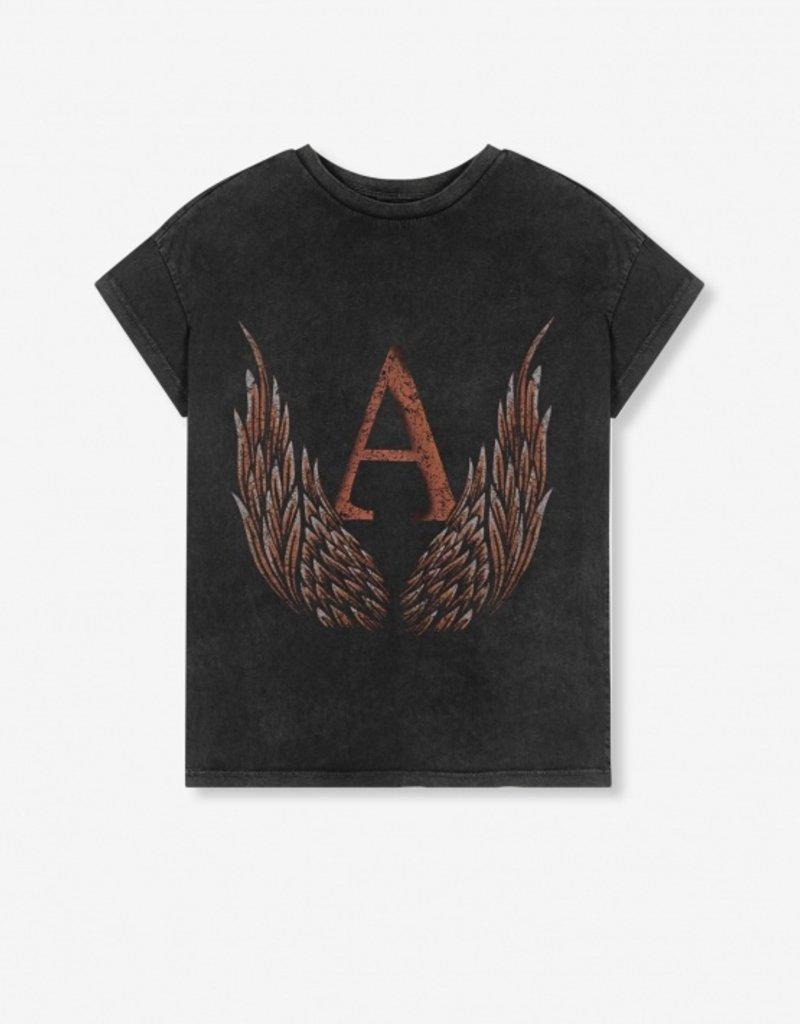 ALIX THE LABEL A WINGS T-SHIRT BLACK
