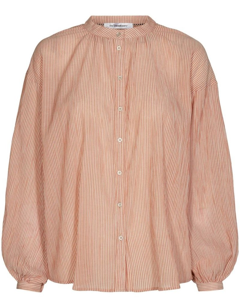 CO'COUTURE CELINA STRIP SHIRT AMBER