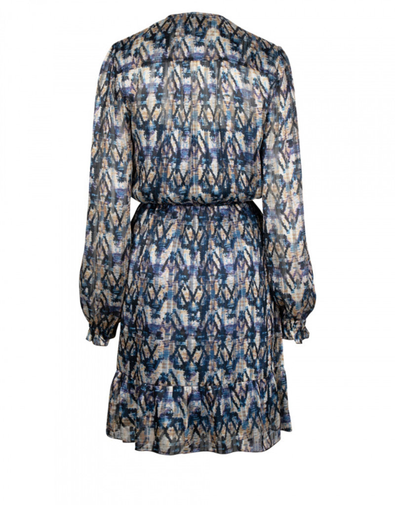 DANTE6 MARCH AZTEC PRINT DRESS BLUE