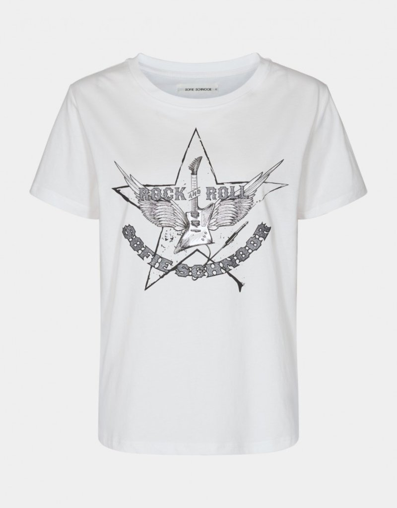 SOFIE SCHNOOR S212288 SHIRT WHITE ROCK AND ROLL