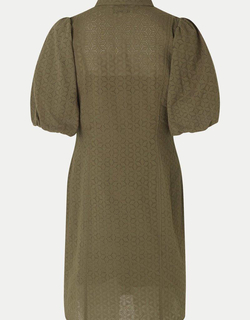 SECOND FEMALE BILBAO MINI DRESS STONE GREEN