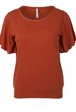 SUMMUM WOMAN 3S4511-30234 TOP WASHED TERRA