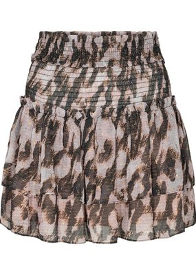 CO'COUTURE CERAMIC GOLD SMOCK SKIRT NUDE ROSE