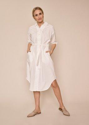 MOS MOSH ASLAUG SHIRT DRESS OFF WHITE