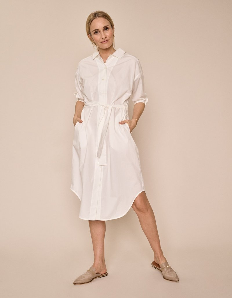 MOS MOSH ASLAUG SHIRT DRESS OFF WHITE