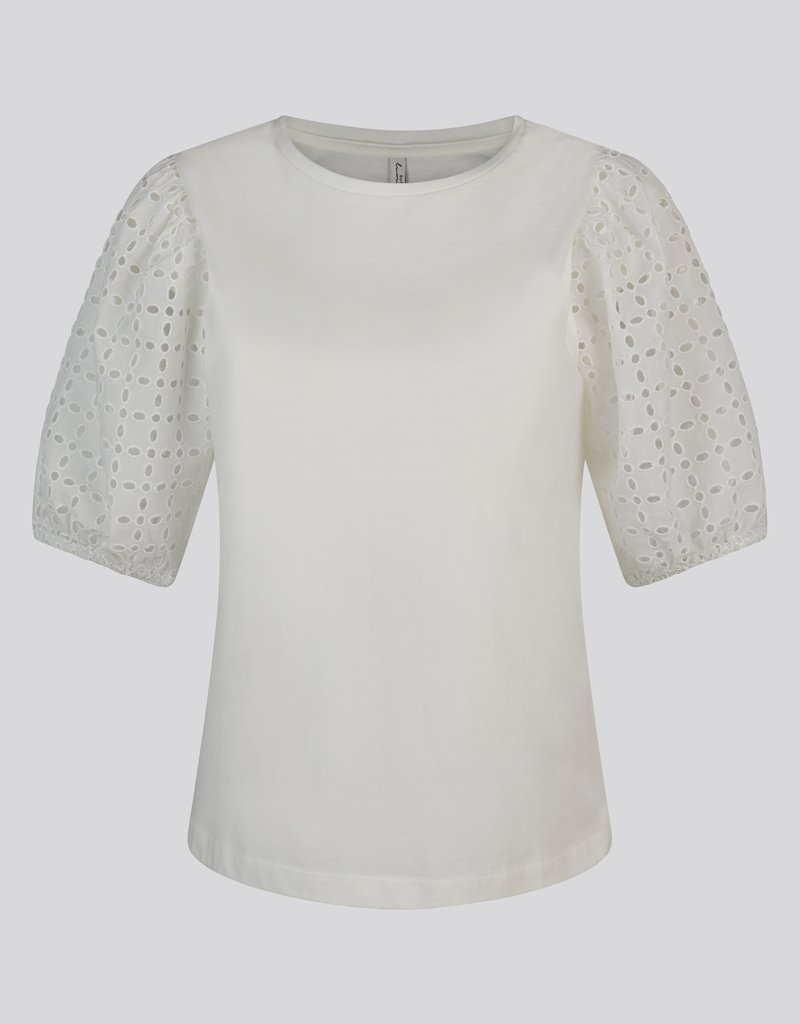 SUMMUM WOMAN 3S4542-30246 TOP BRODERIE ANGALAISE IVORY