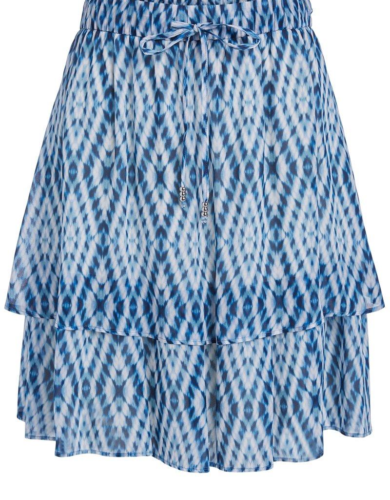 SET FASHION 73362 SKIRT WHITE BLUE