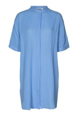 CO'COUTURE CREPE TUNIC SHIRT PALE BLUE