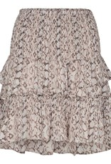 CO'COUTURE PYTHON SMOCK SKIRT BONE