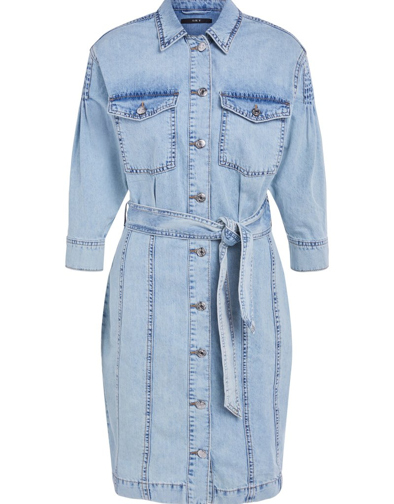 SET FASHION 72619 DRESS DENIM BLUE