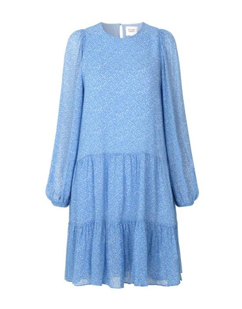SECOND FEMALE MANO PLISSE DRESS BLUE BONNET