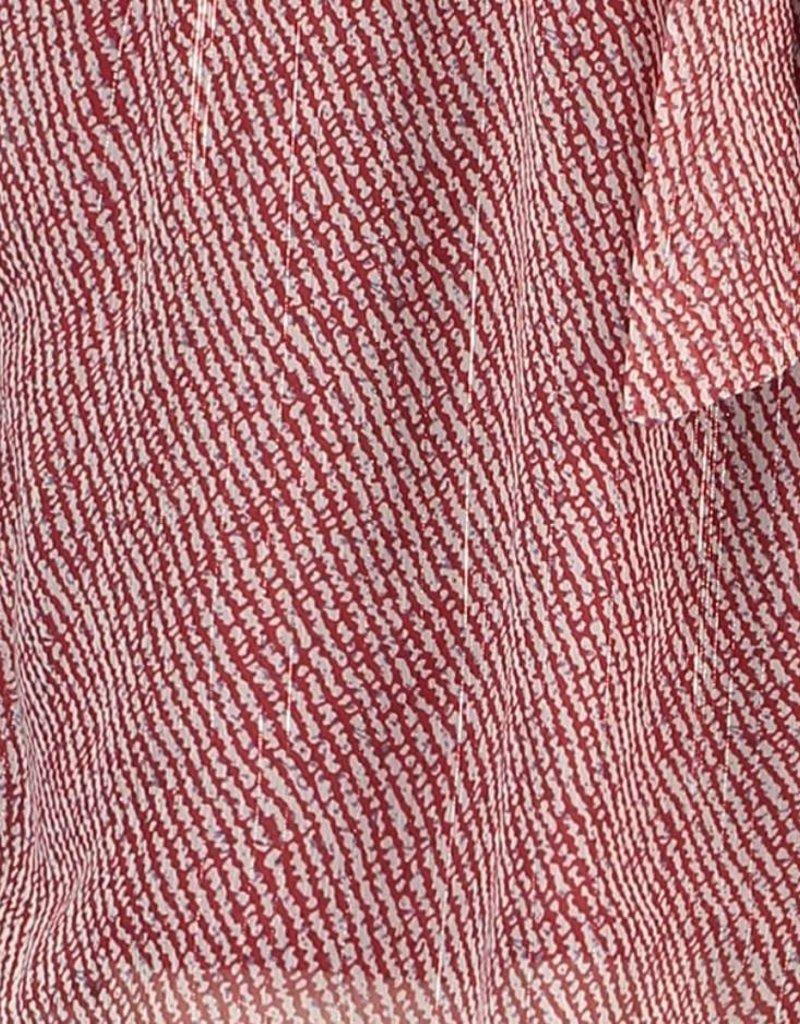 FREEBIRD NAYA MINI SHORT ETHNIC STRIPE RED