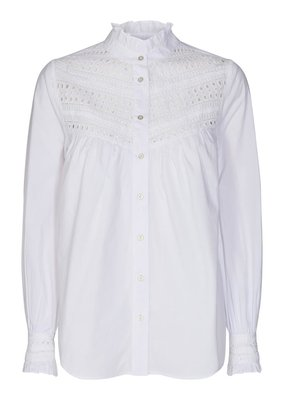 CO'COUTURE ARLY LACE SHIRT WHITE