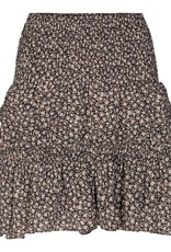 CO'COUTURE BREEZE FLOWER SMOCK SKIRT BLACK