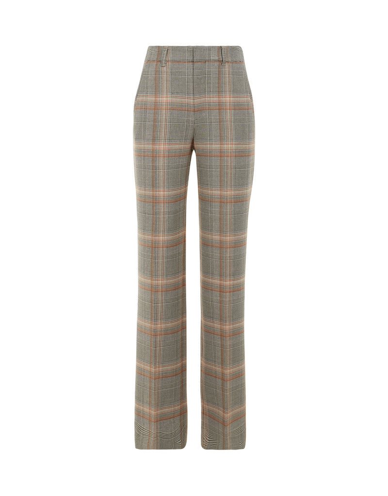 DRYKORN HEADER W-TROUSERS CHECK BROWN