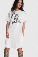 ALIX THE LABEL ALIX SWEAT DRESS SOFT WHITE