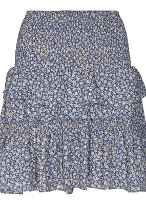 CO'COUTURE BREEZE FLOWER SMOCK SKIRT NEW BLUE