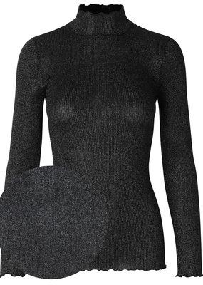 ROSEMUNDE 4550 TURTLENECK BLACK SILVER SHINE