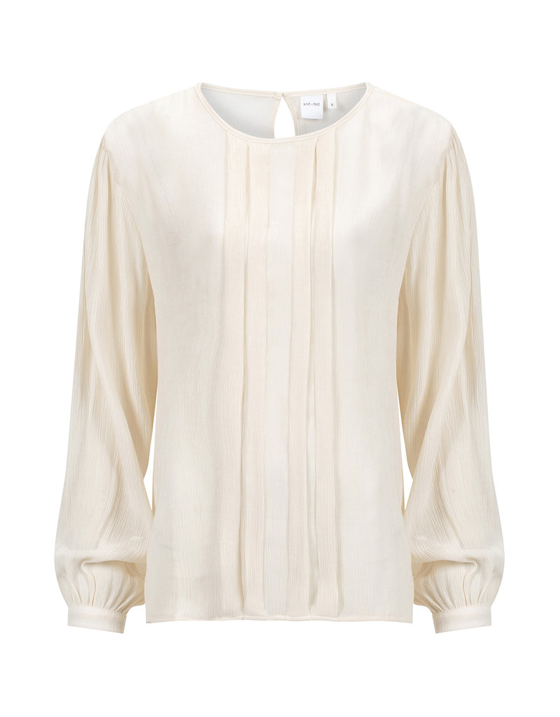 KNITTED CATO TOP IVORY
