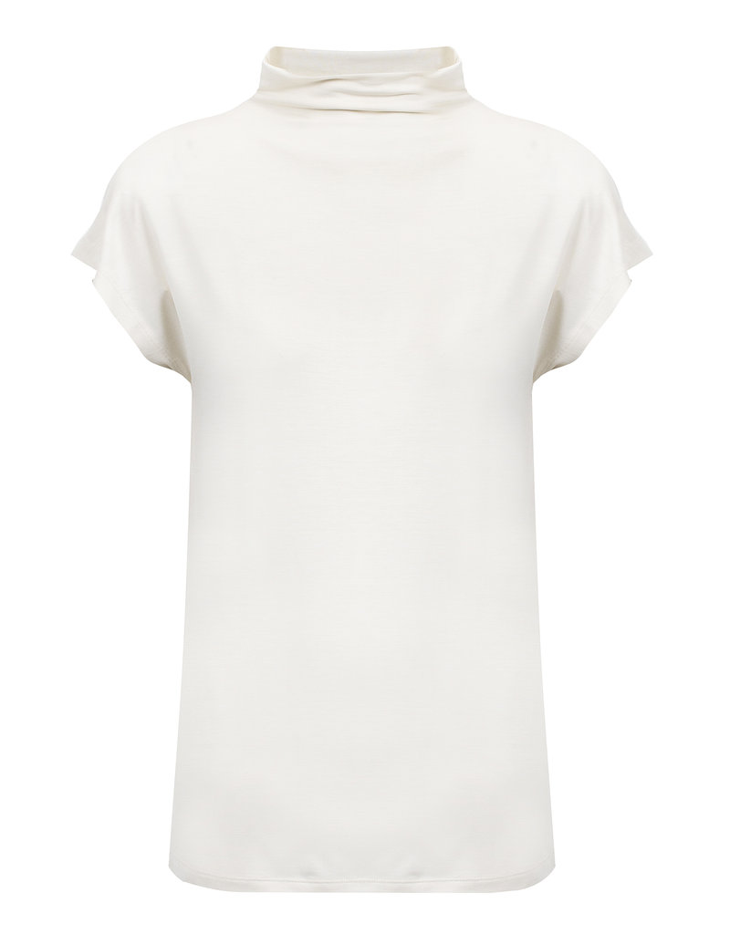 KNITTED MIRRE TOP IVORY