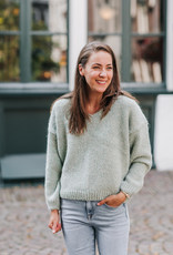 KNITTED BEGONIA PULLOVER FROST
