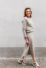 RUBY TUESDAY VIEVE KNITTED SKIRT GREY MELANGE