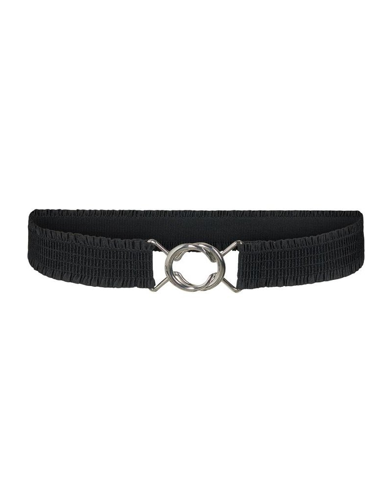 CO'COUTURE ELASTIC FRILL BELT NEW BLUE