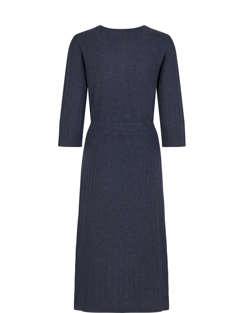 MOS MOSH LANJA 3/4 KNIT DRESS OMBRE BLUE