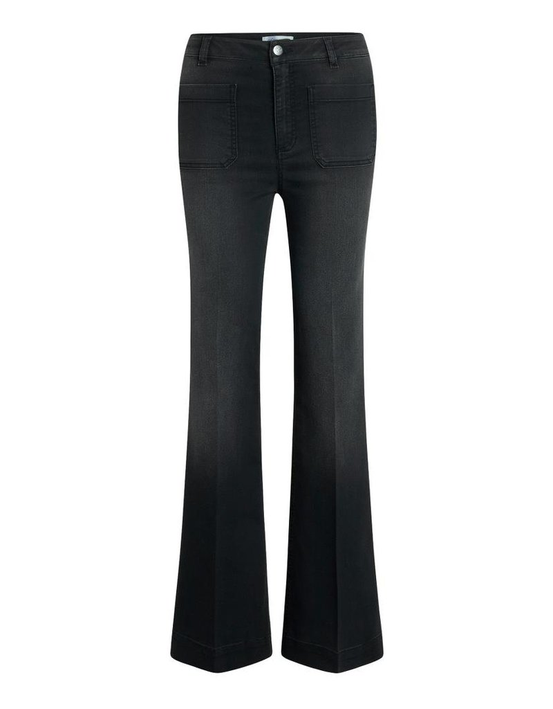 CO'COUTURE PIPER DENZEL FLARE PANT BLACK