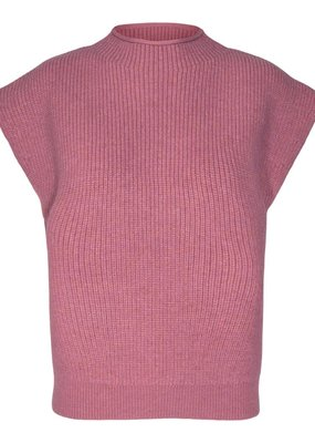 COCOUTURE ROW WING KNIT RHUBARB
