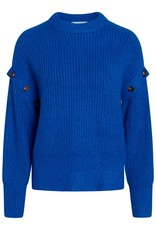 CO'COUTURE ROWIE BUTTON KNIT NEW BLUE
