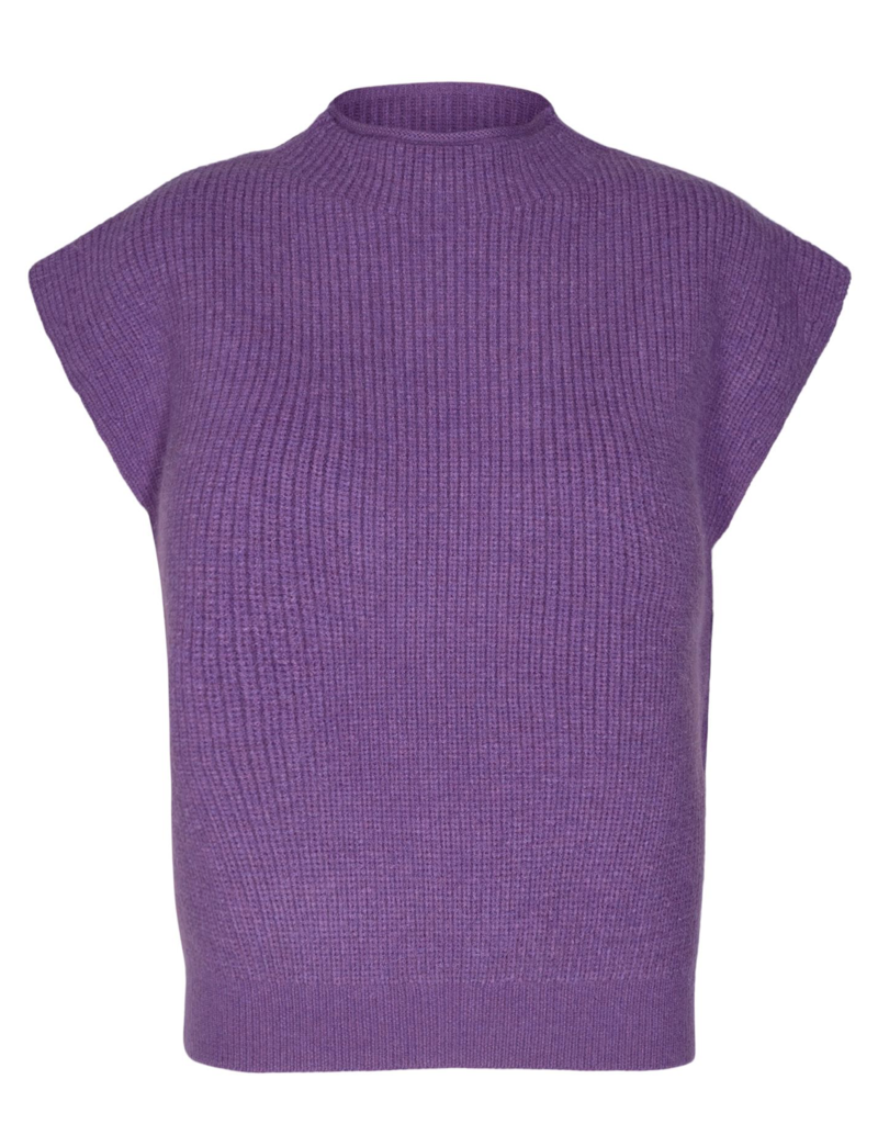 CO'COUTURE ROW WING KNIT PURPLE