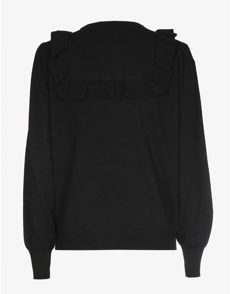 XANDRES ADRIAN KNIT RECYCLED WOOL BLACK