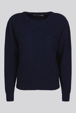 SUMMUM WOMAN 7s5616-7843 SWEATER FANDY CABLE NAVY