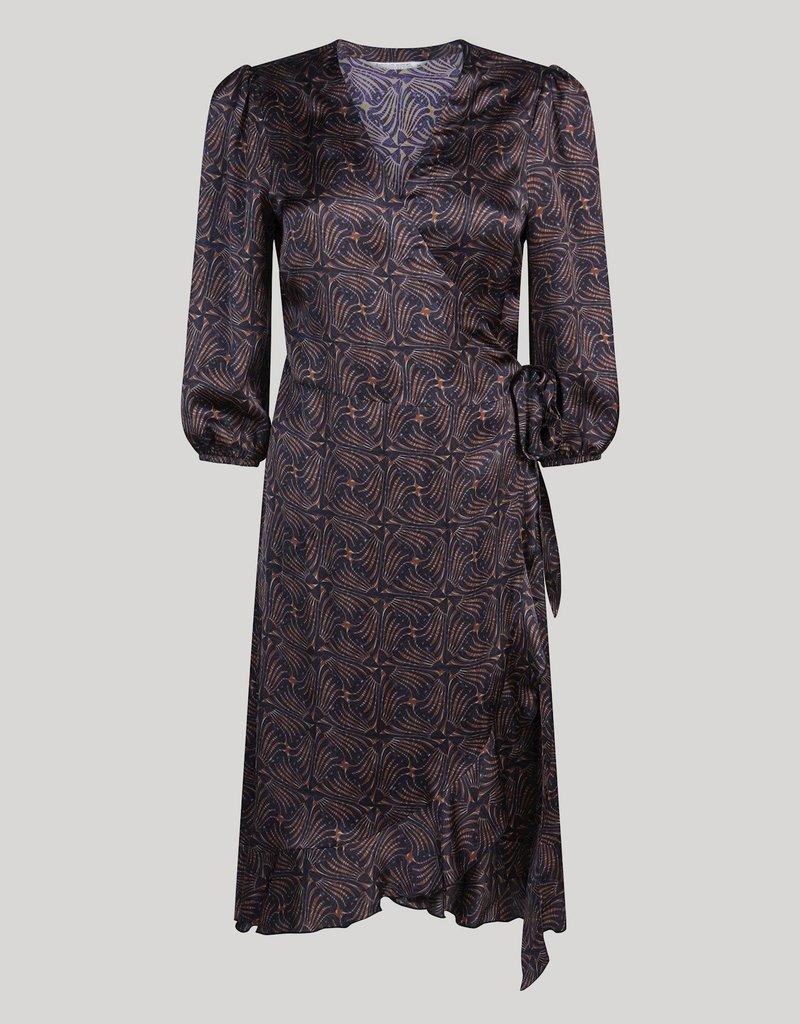 SUMMUM WOMAN 5s1313-11524 DRESS ART DECO PRINT MULTI