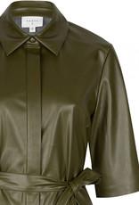 DANTE6 BAROON FAUX DRESS OLIVE GREEN
